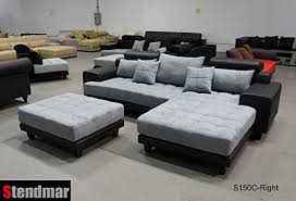 gray sectional with ottoman 3pc modern black grey sectional sofa chaise ottoman s150crbg best