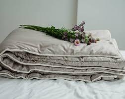 Wool Filled Comforter King Comforter Cool Comfort Light Duvet With Organic Wool