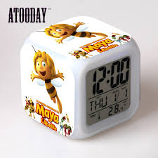 aliexpress com buy maya the bee alarm clock led light 7 color