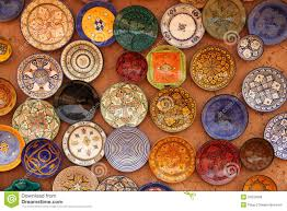 colourful plates on sale royalty free stock photos image 24225068