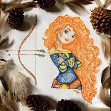 rebelle disney merida disney art