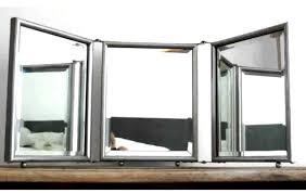 tri fold mirror bathroom cabinet overwhelming tri fold bathroom mirror ideas tri fold bathroom with