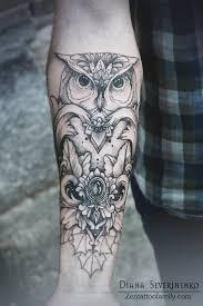 owl forearm tattoo golfian com