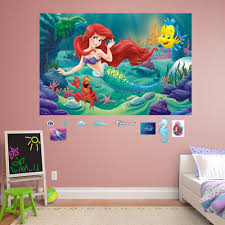 the little mermaid mural wall decal by fathead disney s the little mermaid mural wall decal by fathead