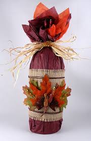 how to wrap a wine bottle for thanksgiving