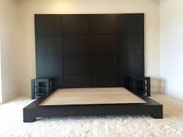 Custom Platform Bed with Platform Bed With Built In Nightstands 2017 And Bedroom Ikea