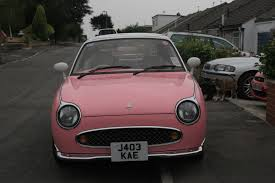 barbie cars with back seats saying goodbye to my pink nissan figaro right from the start