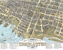 Map Of Charleston South Carolina Charleston South Carolina In 1872 Bird U0027s Eye View Map Aerial