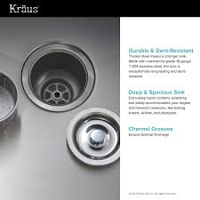 Kitchen Faucets Made In Usa by Stainless Steel Kitchen Sink Combination Kraususa Com