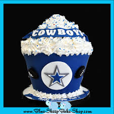 dallas cowboys giant cupcake cake u2013 blue sheep bake shop dallas