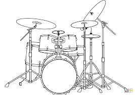 drum set coloring page free printable coloring pages