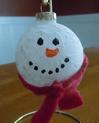 glitter snow snowman ornament craft