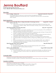 College Activities Resume Template 5 College Student Resume Template Budget Template Letter