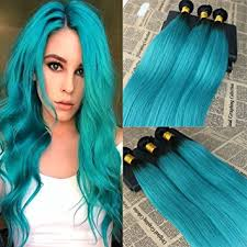 teal hair extensions 18 1 bundle remy hair weft 1b