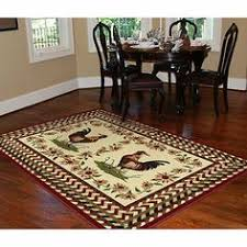 5 X 8 Area Rugs 5x8 Western Lodge Cabin Cowboy Boots Area Rug