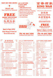 Buffet King Prices by King Wah Restaurant Home