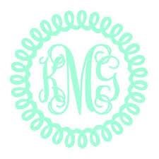 monogram decals circle monogram vinyl decal monogram decal circle decal car