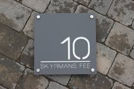 house number door sign extra large square 300 mm x 300mm x8mm
