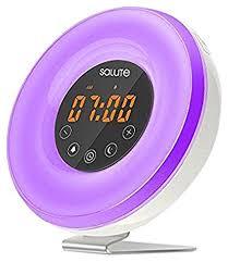 night light alarm clock amazon com salute zjb00221 wake02 gm6 wake up sunrise light alarm