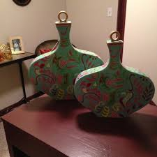 Indian Vases Hand Painted Indian Scroll Vases Allisonicole U0027s Online Store