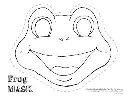 Frog Cut Out Template Mask Colouring Pages Dyi Kids And Pig Cut Coloring Pages