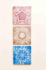 earthbound home decor mandalas canvas art set of 3 earthbound trading co earthbound