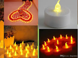 decor home decoration with flameless electric candles for living