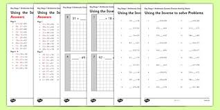 knowledge inverse operations worksheets sheet kids