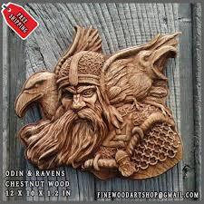 odin ravens viking mythology icon home decor art norse thor