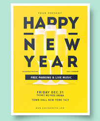 happy new year invitation 30 best new year s flyers and invitations