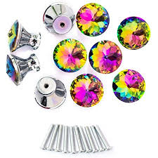 diy knobs on kitchen cabinets spriak 10 pack drawer knobs 30mm colorful glass cabinet dresser pulls shape cupboard wardrobe knob for kitchen bathroom office diy