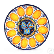 devilled egg platter deviled egg plate platter handmade in deruta italy thatsarte