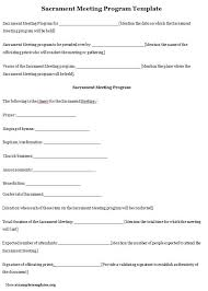 Church Programs Template Ward Sacrament Meeting Program Template Professional Templates