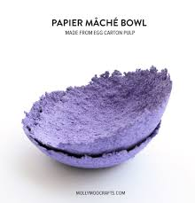 papier mache bowls make from egg carton pulp egg cartons
