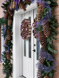 How To Decorate Garland With Ribbon 12 Easy Seasonal Pinecone Crafts Hgtv U0027s Decorating U0026 Design