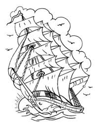 traditional ship tattoo outline sketch coloring