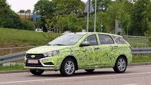 lada lada vesta wagon spied with the most ineffective camo ever