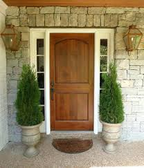 Solid Timber Front Doors by Oak Front Door White Frame Wood Urn Planters Brass Carriage