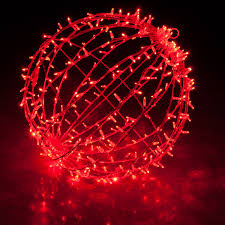 outdoor christmas light balls red led commercial mega sphere christmas light ball fold flat