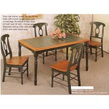 Amazoncom Tile Top Hunter Green Dining Table   Napoleon - Tile top kitchen table and chairs