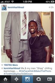 Kevin Heart Memes - a pictures of kevin hart and shaq from his ig lol imgur