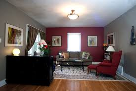 Painting Livingroom by Red Wall Living Room Gen4congress Com