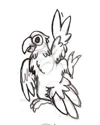 dancing parrot sketch by sunnyparrot on deviantart
