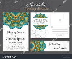 Classic Invitation Card Classic Vintage Wedding Invitation Card Design Stock Vector