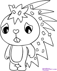 happy tree friends free coloring pages art coloring pages