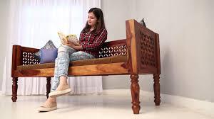 Indian Sitting Sofa Design Divan Online Angelica Divan Online In India Wooden Street