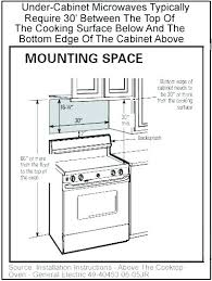 under cabinet microwave dimensions over the range microwave dimensions profile front profile dimensions