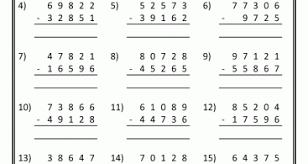 com 5th grade math worksheets printable 5th grade math worksheets