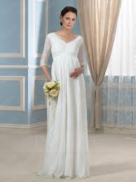 maternity wedding dresses 100 charming v neck half sleeves lace a line maternity wedding dress