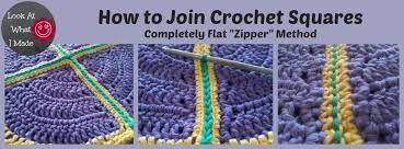 how to join crochet squares completely flat zipper method how to join crochet squares completely flat zipper method